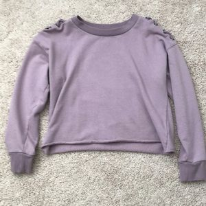 Purple Cropped Sweater